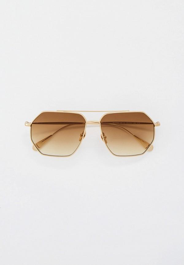 мужские квадратные солнцезащитные очки baldinini, золотые