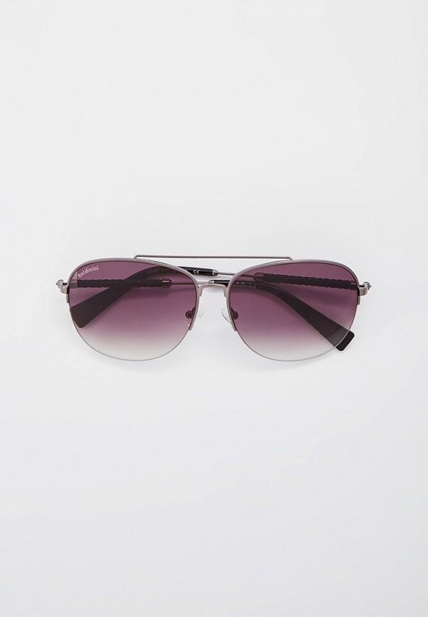 мужские круглые солнцезащитные очки baldinini, серебряные
