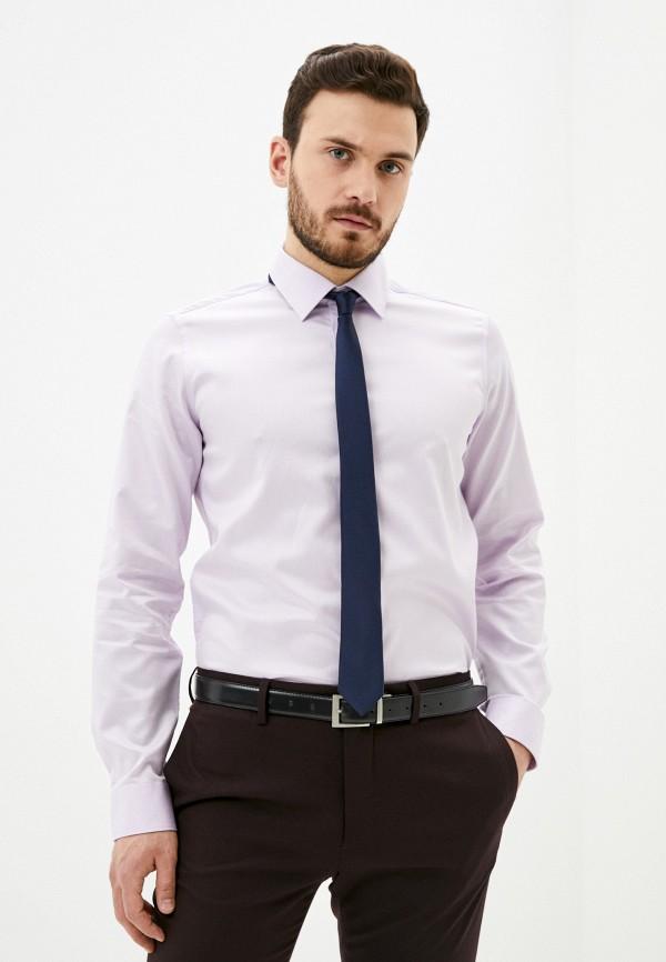мужская рубашка с длинным рукавом henderson, фиолетовая