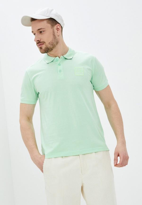 мужское поло с коротким рукавом baon, зеленое