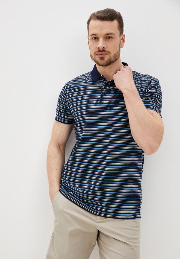 мужское поло с коротким рукавом baon, синее