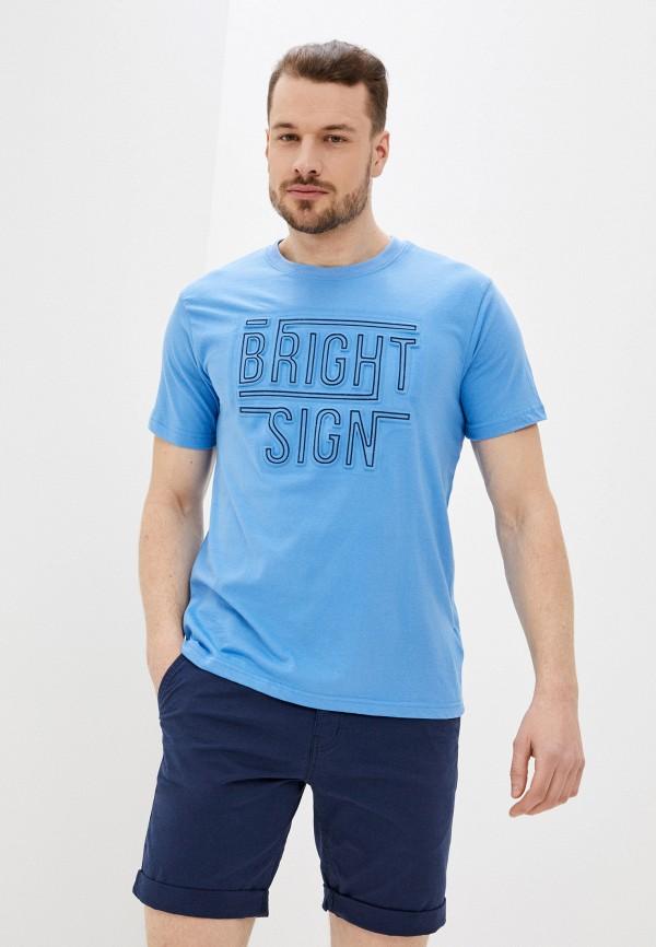 мужская футболка с коротким рукавом baon, голубая