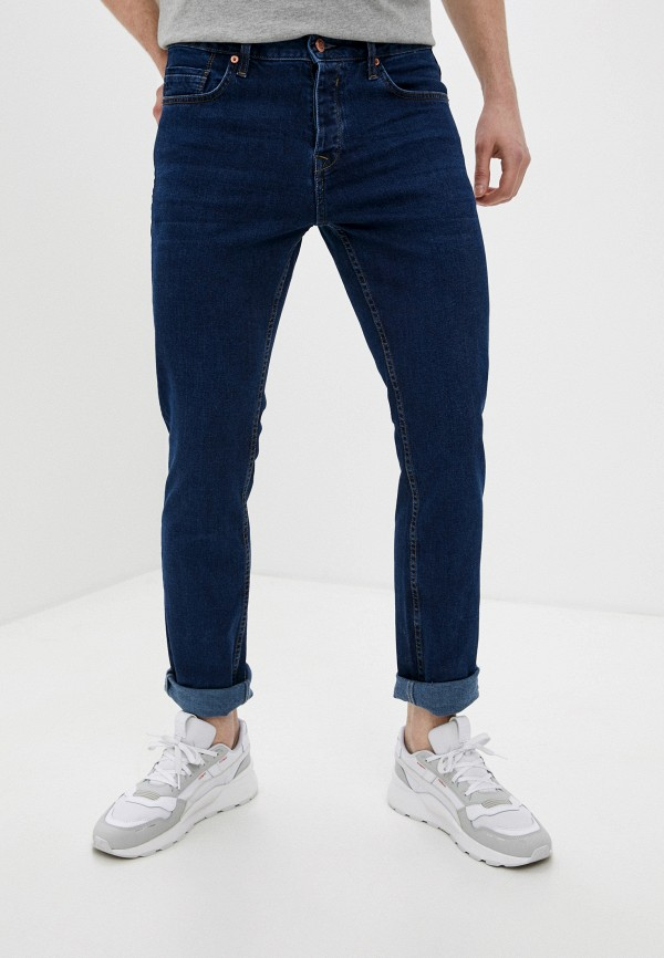 мужские зауженные джинсы colin's, синие