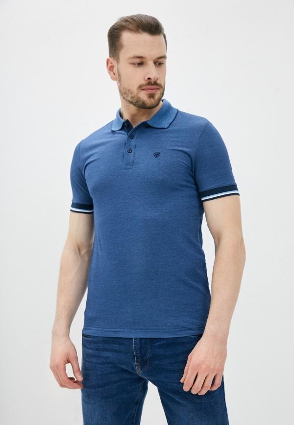 мужское поло с коротким рукавом o'stin, синее