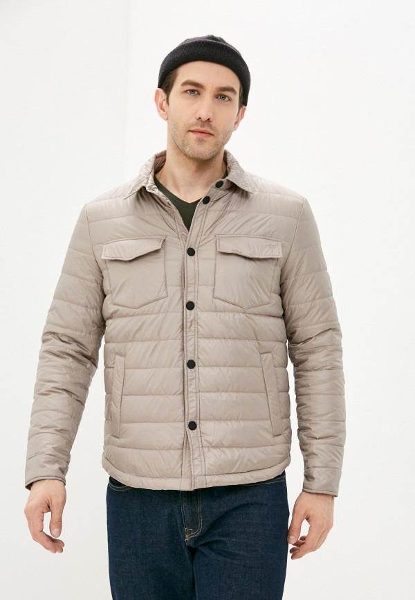 мужская утепленные куртка baon, бежевая