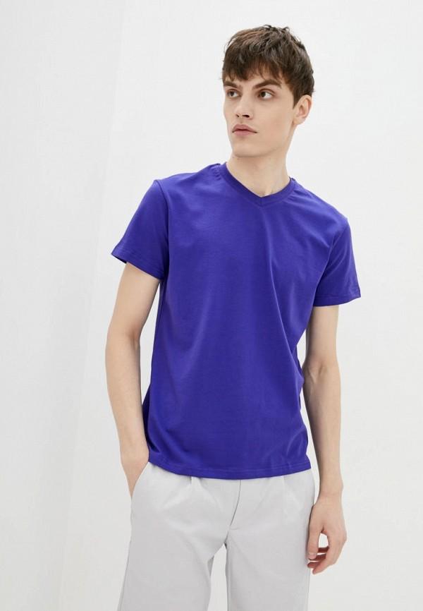мужская футболка с коротким рукавом promin, синяя
