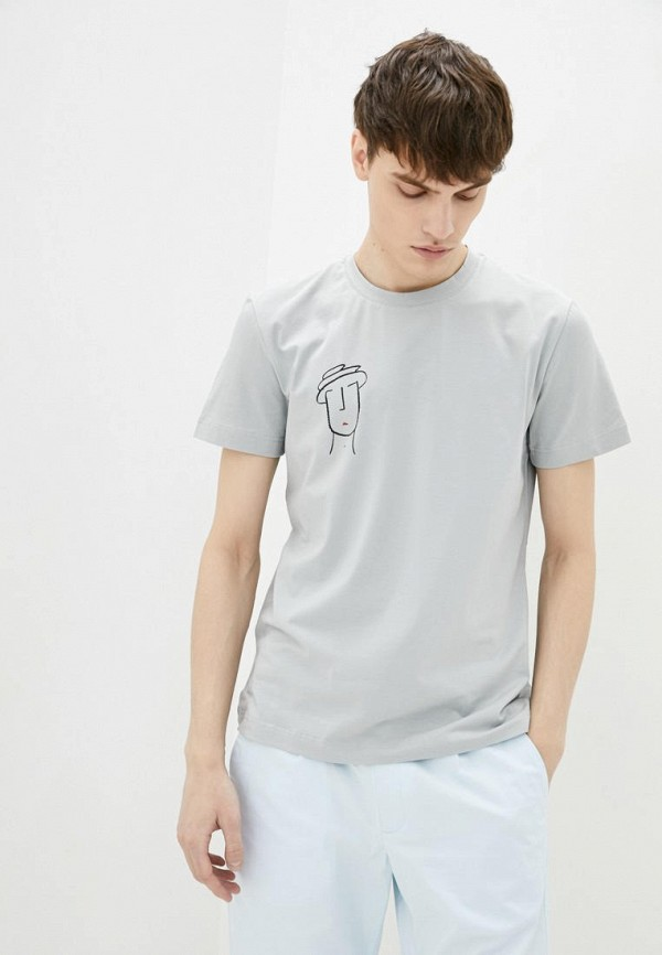 мужская футболка с коротким рукавом promin, серая