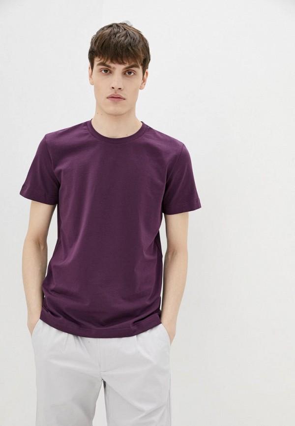 мужская футболка с коротким рукавом promin, фиолетовая