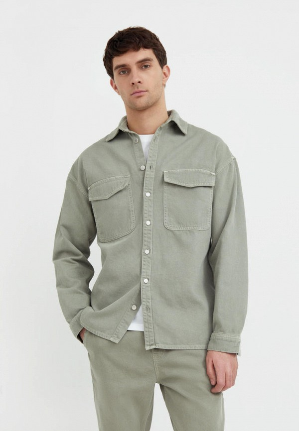 Куртка джинсовая Finn Flare цвета хаки