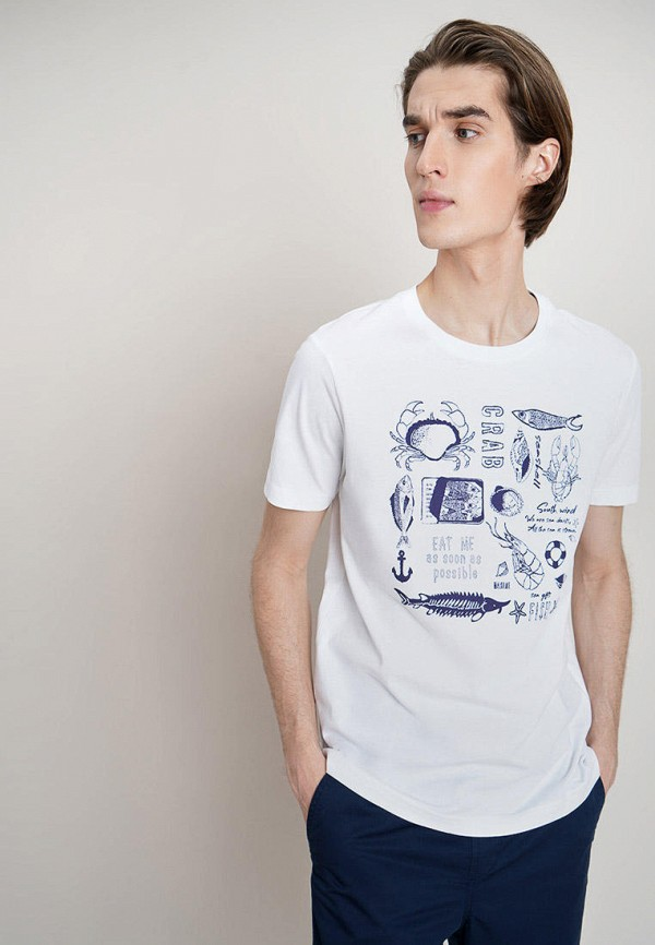 мужская футболка с коротким рукавом o'stin, белая