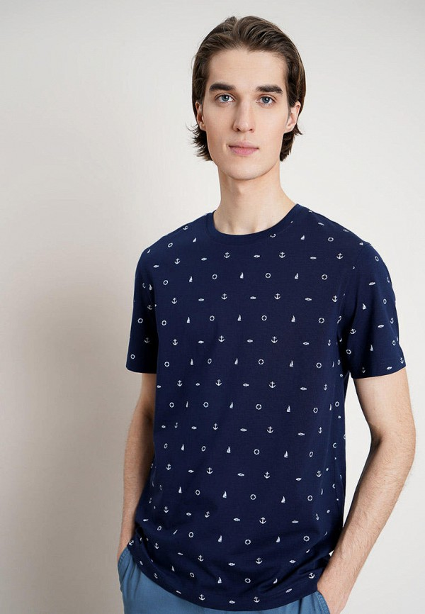 мужская футболка с коротким рукавом o'stin, синяя