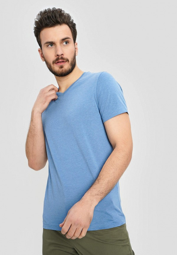 мужская футболка с коротким рукавом o'stin, голубая