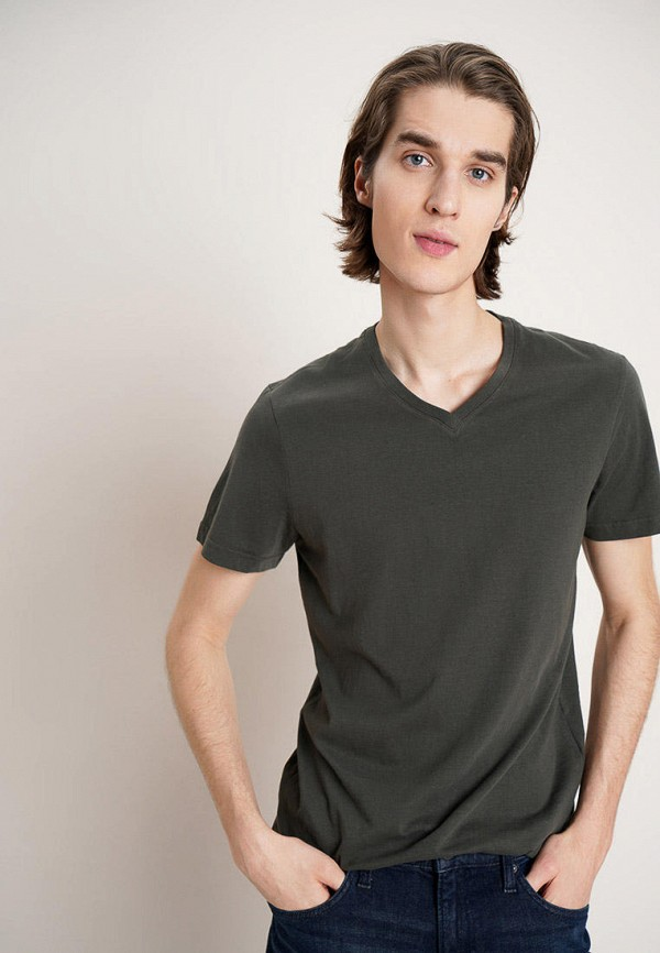 мужская футболка с коротким рукавом o'stin, хаки