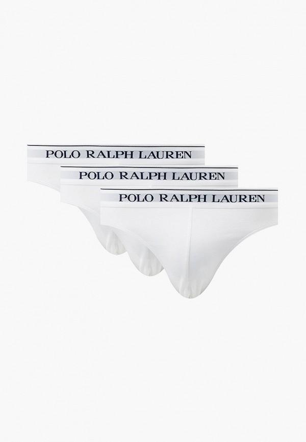 мужские трусы-брифы polo ralph lauren, белые