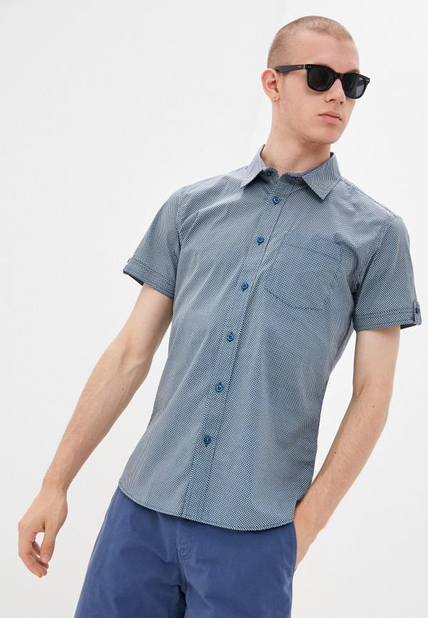 мужская рубашка с коротким рукавом baon, синяя