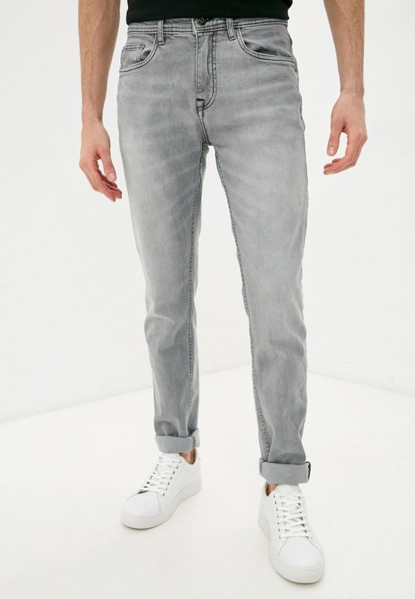 мужские зауженные джинсы baon, серые