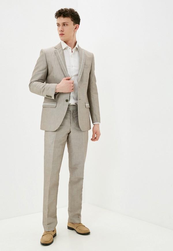 мужской костюм bazioni, бежевый