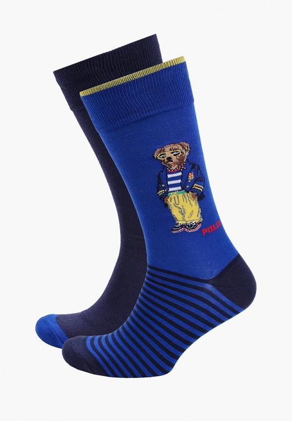 Носки 2 пары Polo Ralph Lauren синего цвета