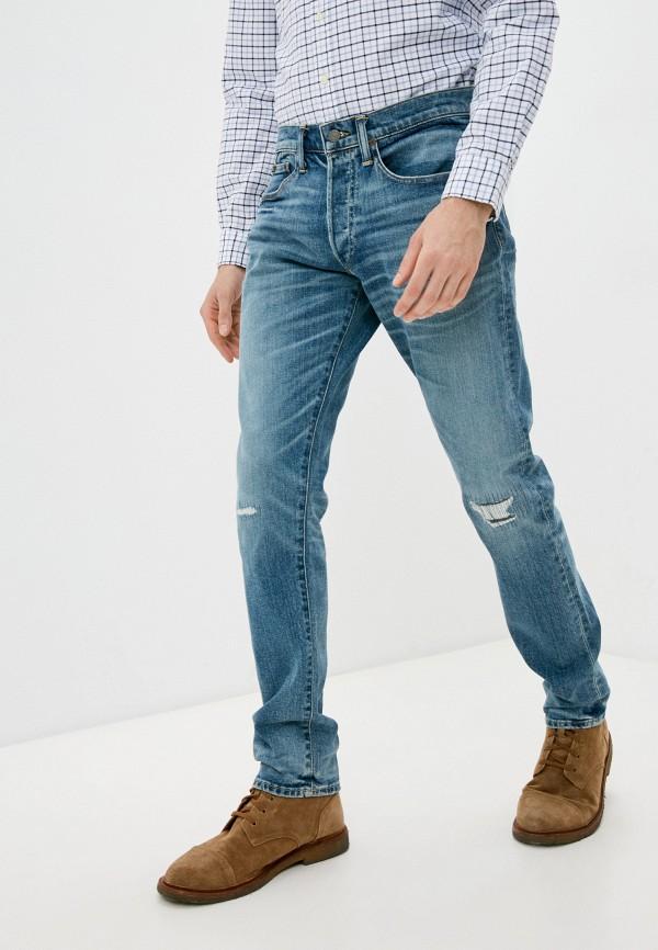 мужские прямые джинсы polo ralph lauren, голубые