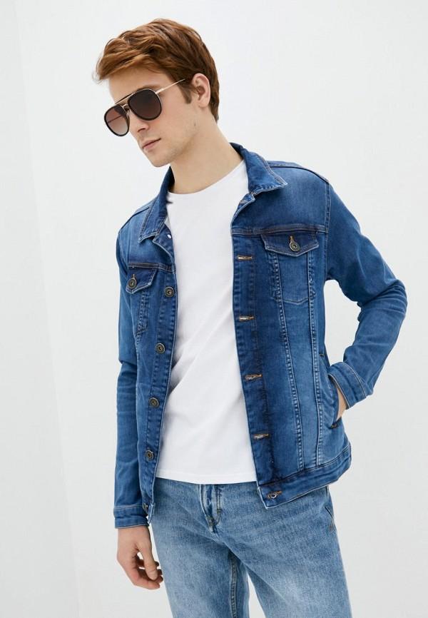 мужская джинсовые куртка react, синяя