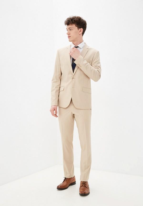 мужской классические костюм bazioni, бежевый