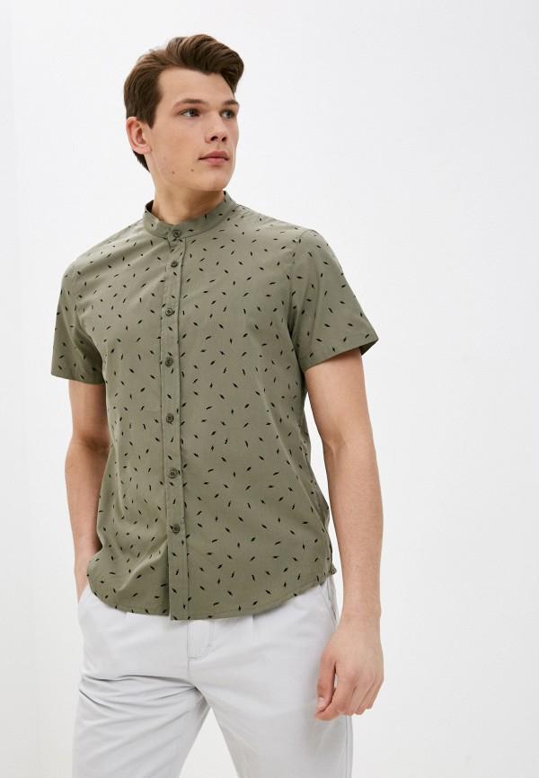 мужская рубашка с коротким рукавом mark formelle, хаки