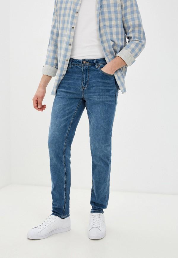 мужские прямые джинсы baon, голубые