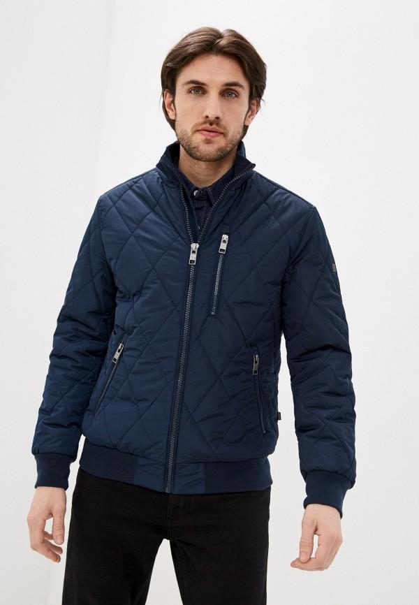мужская куртка бомбер baon, синяя