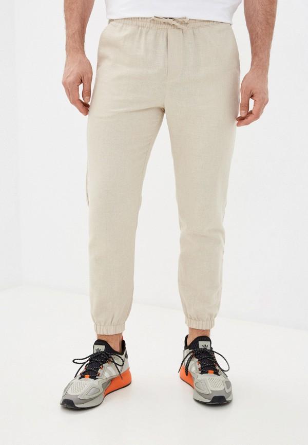 мужские брюки джоггеры mark formelle, бежевые
