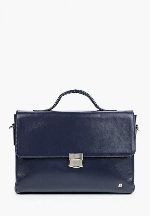 мужской портфель eleganzza, синий