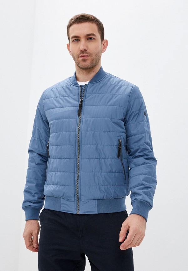 мужская утепленные куртка baon, голубая