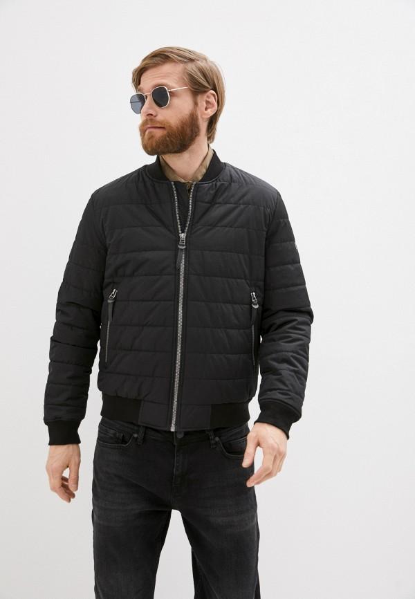 мужская куртка бомбер baon, черная