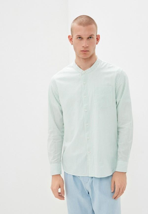 мужская рубашка с длинным рукавом befree, зеленая