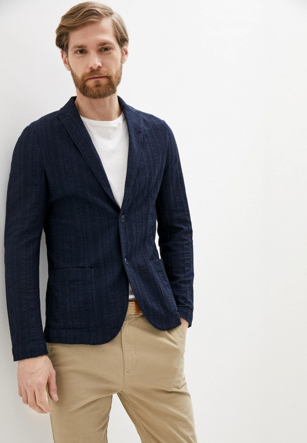 мужской пиджак falconeri, синий