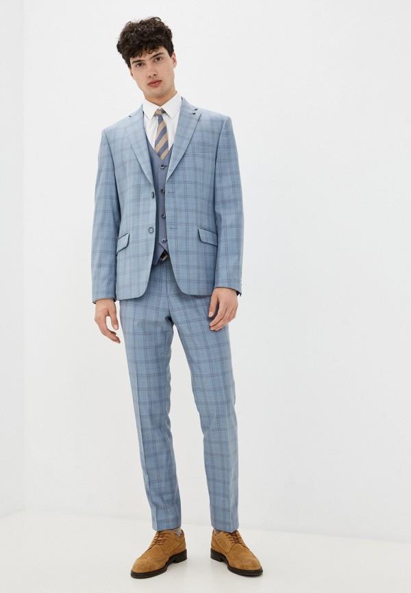 мужской костюм bazioni, голубой