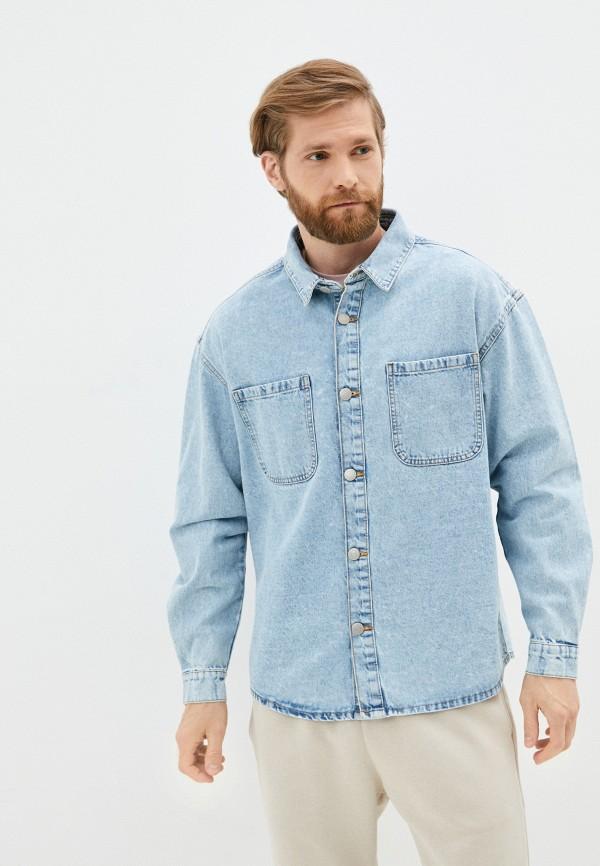мужская джинсовые рубашка befree, голубая