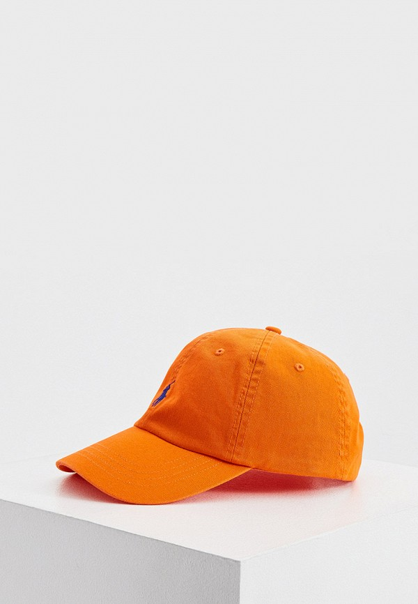мужская бейсболка polo ralph lauren, оранжевая