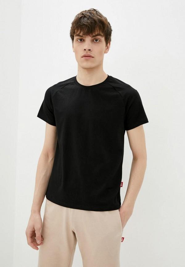 мужская футболка с коротким рукавом garne, черная