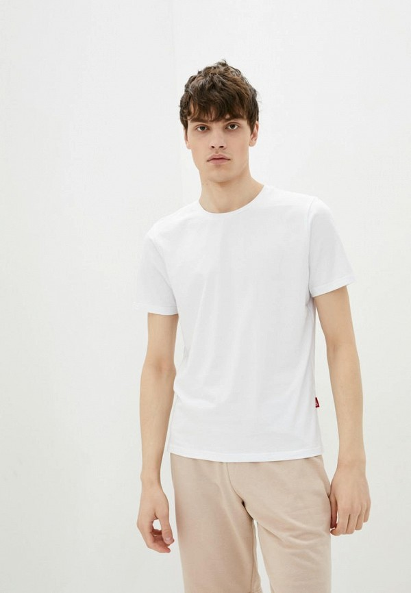 мужская футболка с коротким рукавом garne, белая