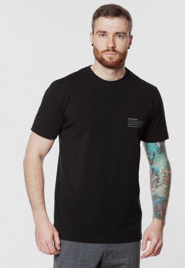 мужская футболка с коротким рукавом arber, черная