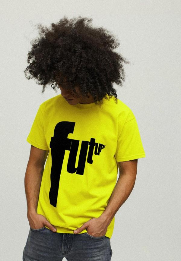 мужская футболка с коротким рукавом yappi, желтая