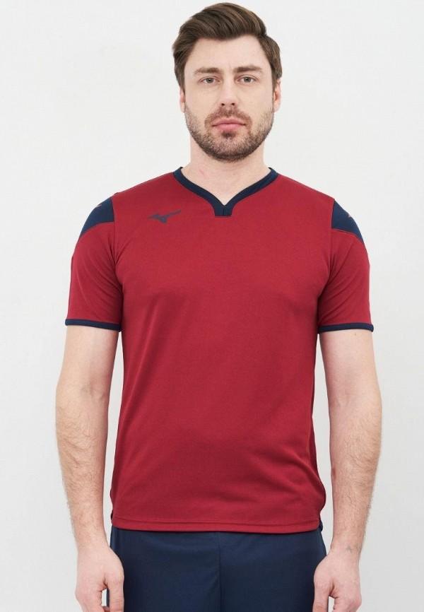 мужская спортивные футболка mizuno, бордовая