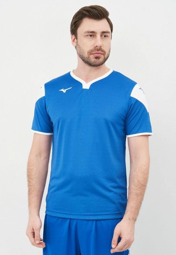 мужская спортивные футболка mizuno, голубая