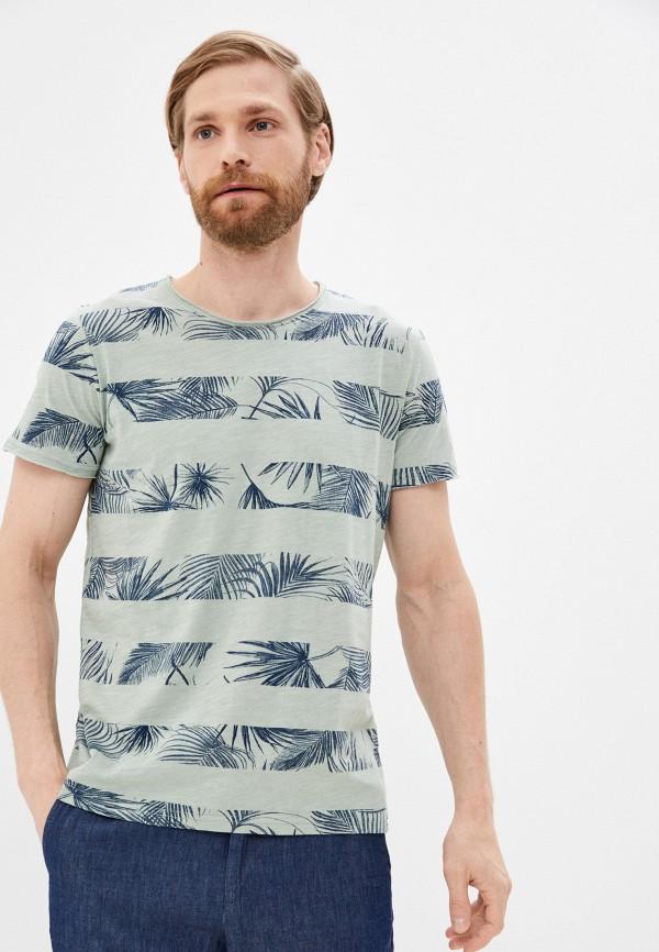 мужская футболка с коротким рукавом baon, бирюзовая