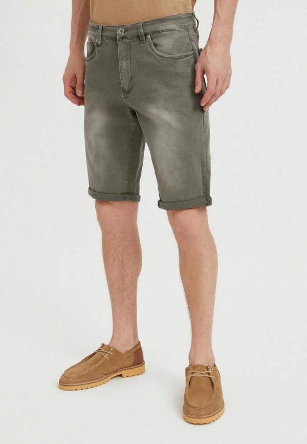 Шорты джинсовые Finn Flare. Цвет: хаки