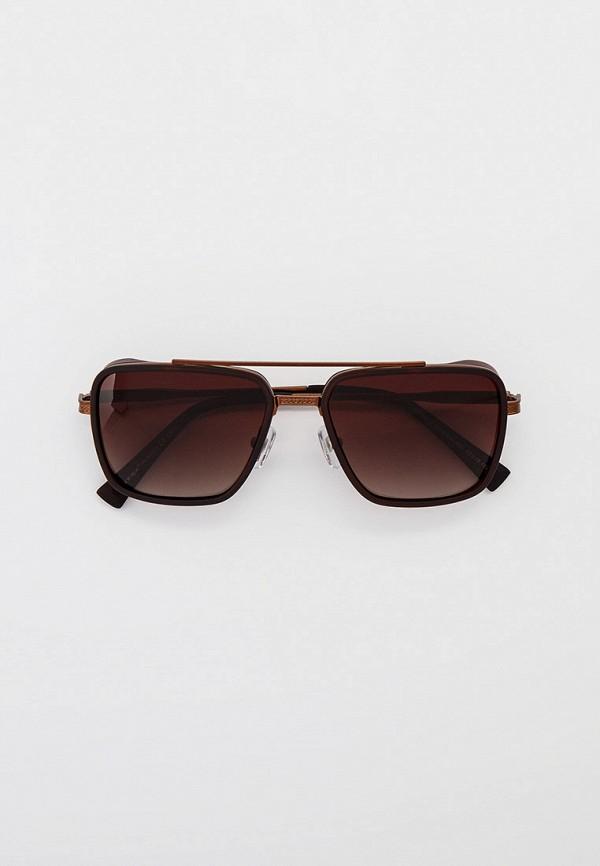 мужские квадратные солнцезащитные очки matrix, коричневые