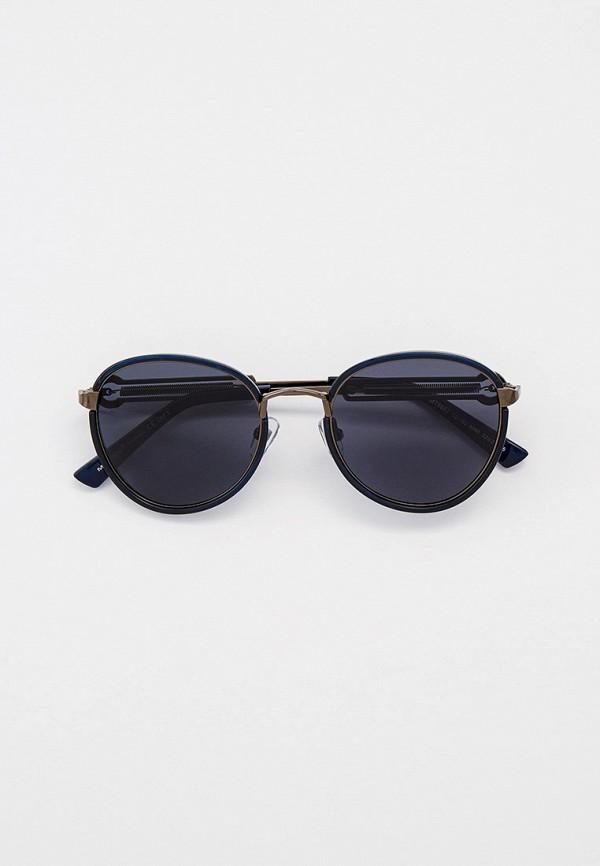 мужские круглые солнцезащитные очки matrix, синие
