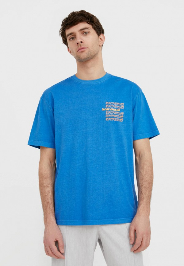 Футболка Finn Flare голубого цвета