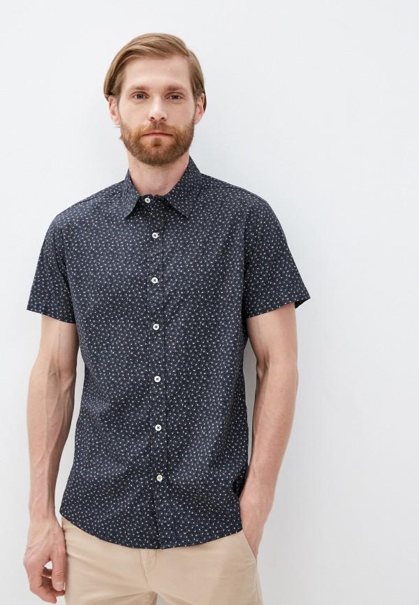 мужская рубашка с коротким рукавом baon, серая