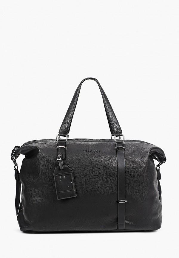 мужская дорожные сумка vitacci, черная